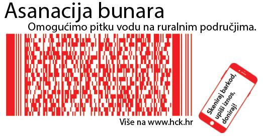 Skenirajte kod mobitelom i donirajte za program Hrvatskog Crvenog križa Asanacija bunara!