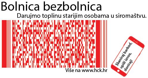 Skenirajte kod mobitelom i podržite program Hrvatskog Crvenog križa Bolnica bezbolnica!