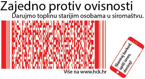 Skenirajte kod mobitelom i donirajte programu Hrvatskog Crvenog križa Neovisni - zajedno protiv ovisnosti!